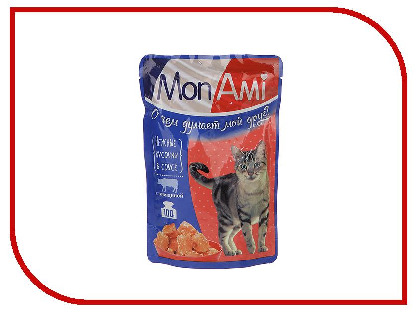 Корм MonAmi Говядина 100g для кошек 201002114/3490