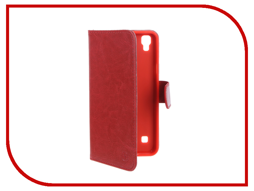 Аксессуар Чехол LG X Style Pulsar Wallet Case Red PWC0025<br>