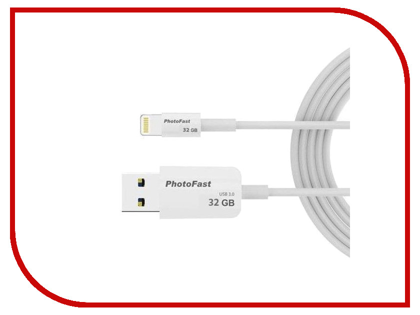 USB Flash Drive 32Gb - PhotoFast PhotoBackup Cable 1m USB 3.0 / Lightning PBCU332GB i flashdrive max 3 0 photofast