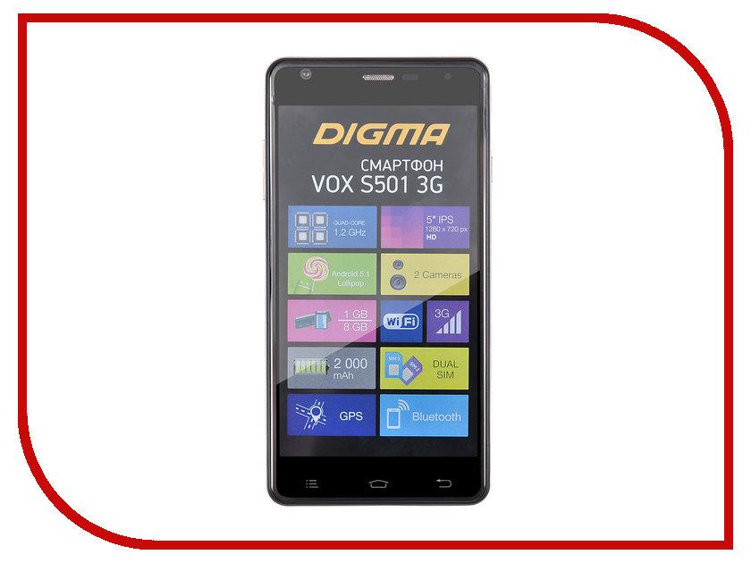 Сотовый телефон Digma VOX S501 3G Black смартфоны digma смартфон s501 3g vox белый