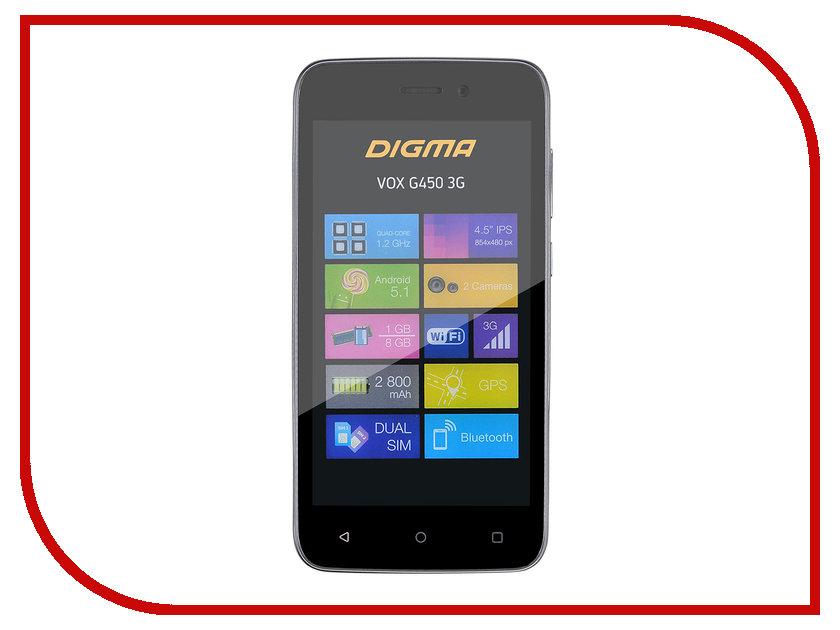 Сотовый телефон Digma Vox G450 3G Graphite смартфоны digma смартфон s501 3g vox белый