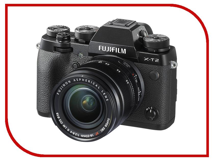 Фотоаппарат Fujifilm X-T2 Kit 18-55 mm F/2.8-4 R LM OIS meike mk xt2g metal hand grip for fujifilm x t2