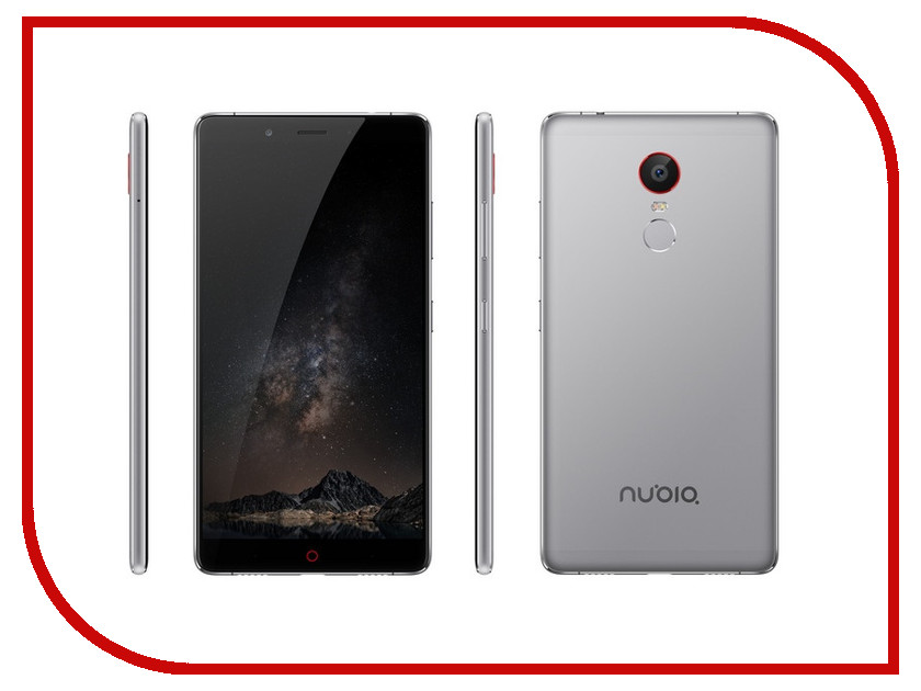 Сотовый телефон ZTE Nubia Z11 Max 64Gb RAM 4Gb Grey moskii brand ultra thin protective pc backcase cover for zte nubia x6