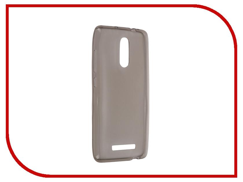 ��������� �����-�������� Xiaomi Redmi Note 3 Krutoff Transparent-Black 11755
