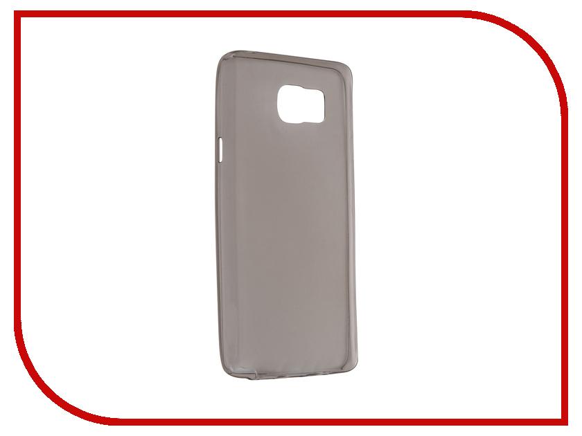 Аксессуар Чехол-накладка Samsung Galaxy Note 5 Krutoff Transparent-Black 11757 аксессуар чехол накладка krutoff для apple iphone 5 5s se transparent black 10672