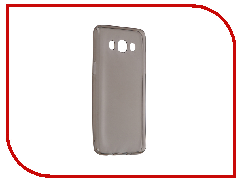 Аксессуар Чехол-накладка Samsung Galaxy J5 2016 SM-J510 Krutoff Transparent-Black 11759<br>
