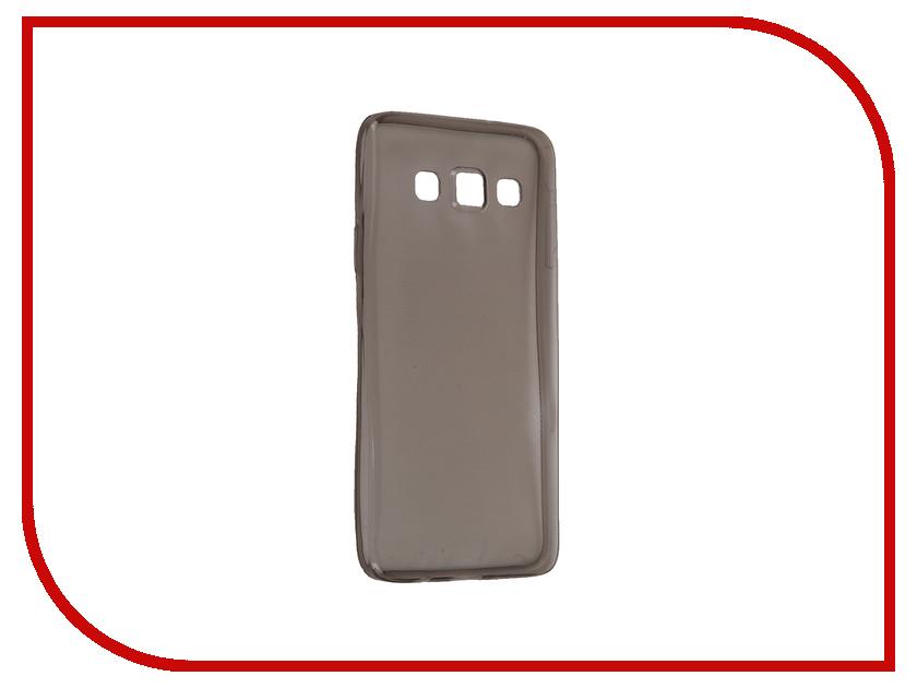 Аксессуар Чехол-накладка Samsung Galaxy A3 SM-A300F Krutoff Transparent-Black 11512 аксессуар чехол samsung galaxy a3 2017 cojess tpu 0 3mm transparent