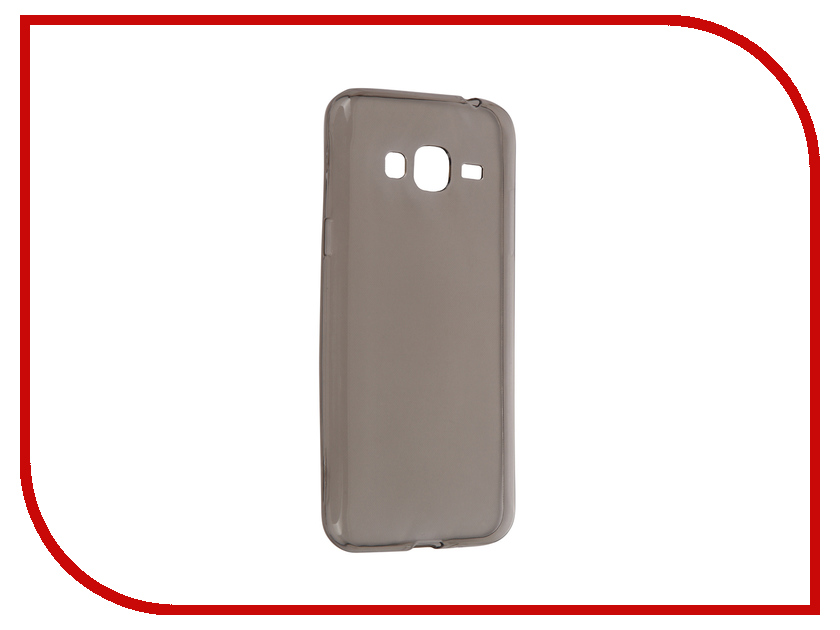 Аксессуар Чехол-накладка Samsung Galaxy J3 2016 SM-J320 Krutoff Transparent-Black 11770<br>
