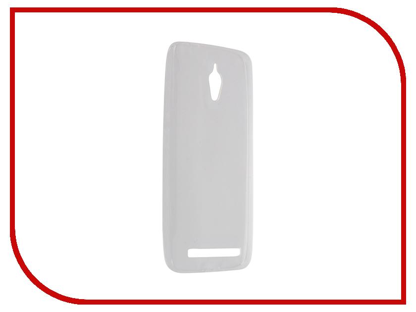 Аксессуар Чехол-накладка ASUS ZenFone Go ZC500TG Krutoff Transparent 11583 аксессуар чехол накладка asus zenfone c zc451cg cherry black 8270