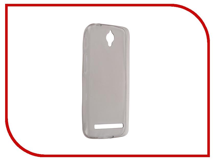 Аксессуар Чехол-накладка ASUS ZenFone Go ZC451TG Krutoff Transparent-Black 11768<br>