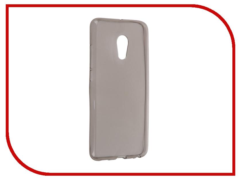 Аксессуар Чехол-накладка Meizu MX6 Krutoff Transparent-Black 11761
