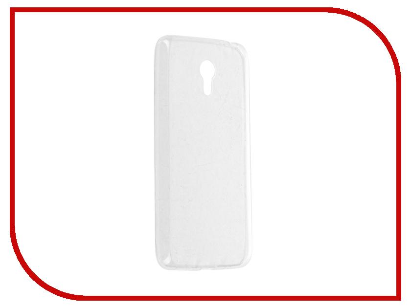 Аксессуар Чехол-накладка Meizu M2 Note Krutoff Transparent-Black 11763<br>