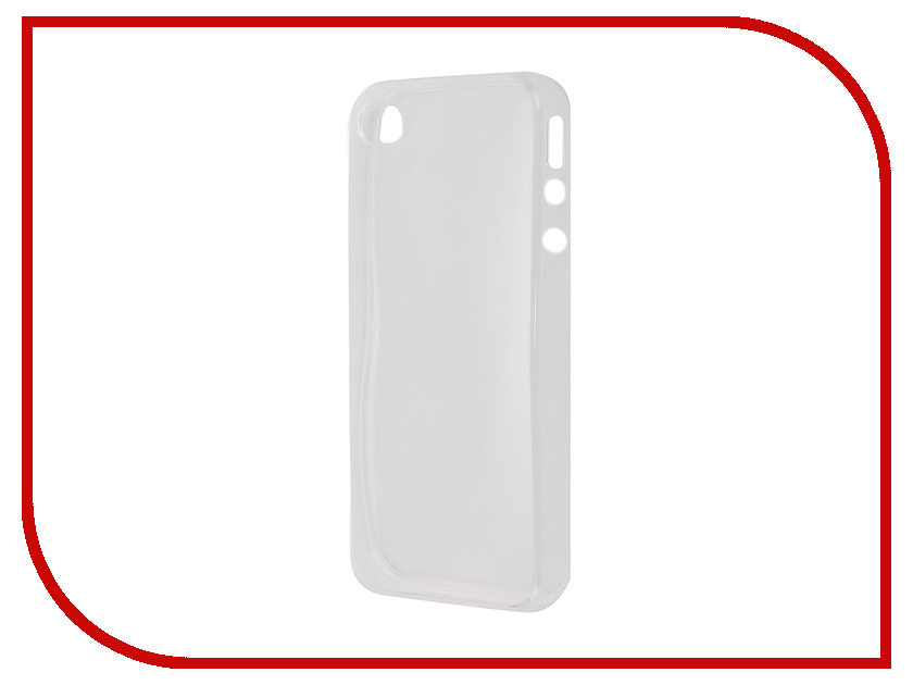 Аксессуар Чехол-накладка Krutoff для APPLE iPhone 4/4S Transparent 10668 аксессуар чехол krutoff для iphone 6 transparent black 10675