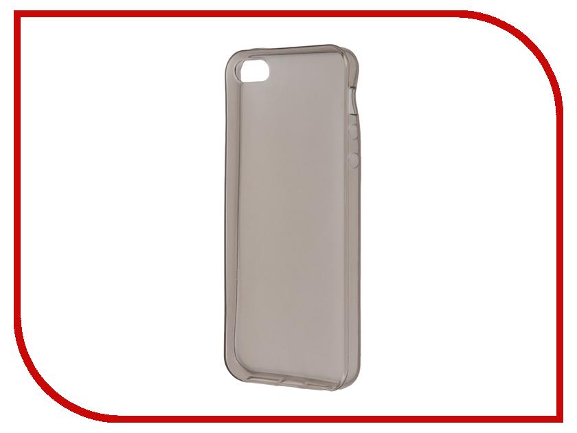 Аксессуар Чехол-накладка Krutoff для APPLE iPhone 5 / 5S / SE Transparent-Black 10672 аксессуар чехол накладка krutoff для apple iphone 5 5s se transparent black 10672