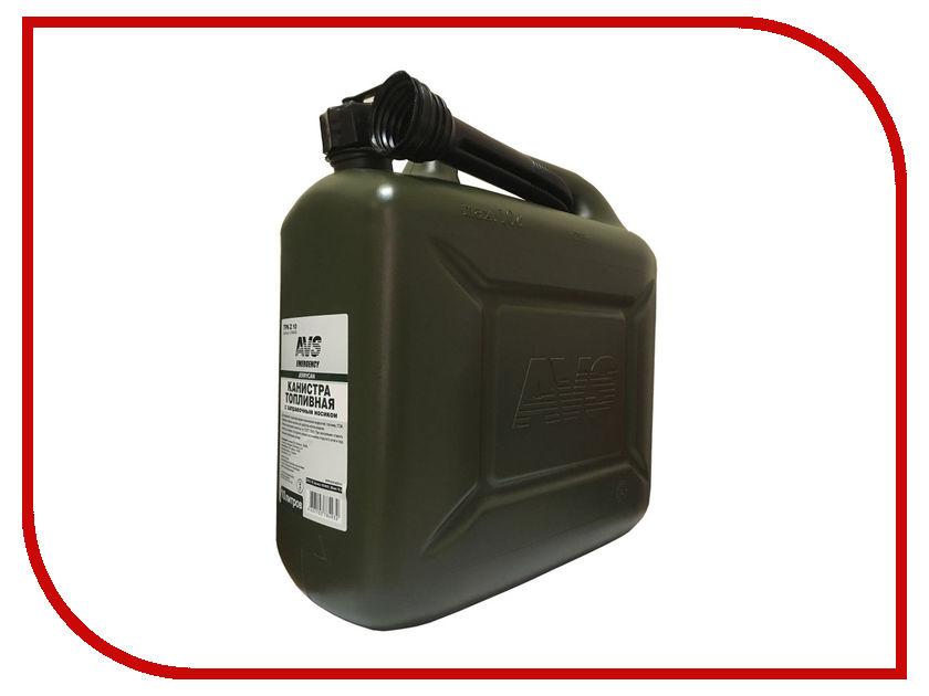Канистра AVS TPK-Z 10 10L Dark Green A78493S канистра autoprofi горизонтальная стальная оцинкованная 10l с лейкой
