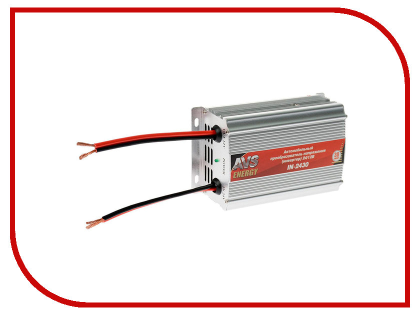 Автоинвертор AVS IN-2430 (30A) с 24В на 12В 43898 автоинвертор avs in 2210 220в на 12в a80980s
