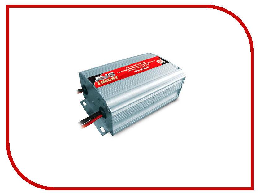 Автоинвертор AVS IN-2420 (20A) с 24В на 12В 43897 автоинвертор avs in 2210 220в на 12в a80980s