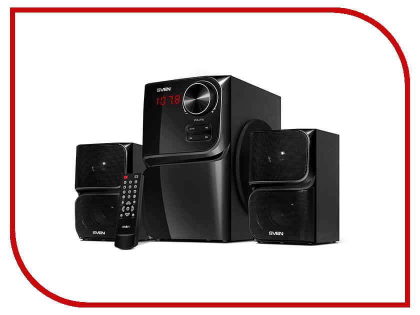 Колонка Sven MS-305 Black SV-013615 геймпад sven x pad sv 063007 провод 14 клавиш d pad 8 позиц 2 мини джой резиновые вставки