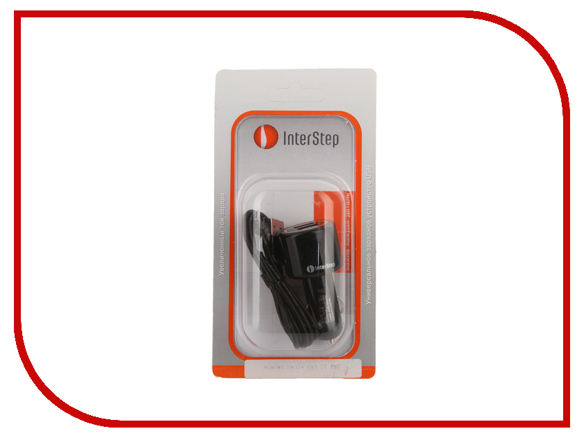 Зарядное устройство InterStep 2 USB Car Charger 2000mAh + Huawei cable IS-CC-HUAWEI02K-000B201 26609<br>