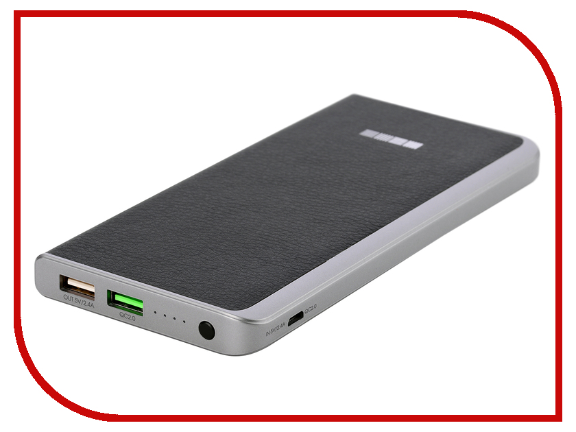 Аккумулятор InterStep PB8000QC Quick Charge 8000mAh Black IS-AK-PB8000QCB-000B201 43403<br>
