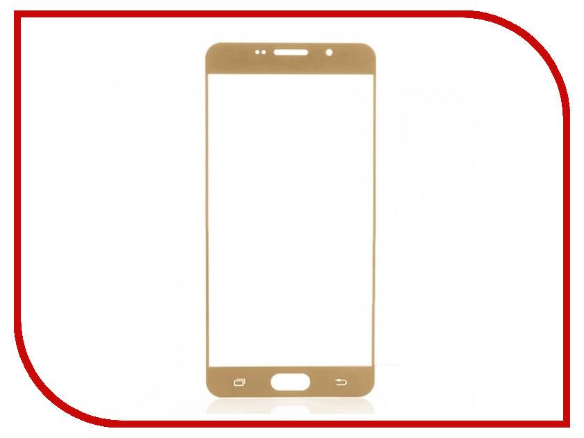 Аксессуар Защитное стекло Samsung Galaxy A7 2016 CaseGuru Full Screen 0.3mm Gold 86895 аксессуар защитное стекло meizu pro 6 caseguru full screen 0 3mm black 87012