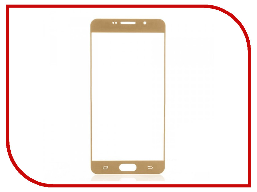 Аксессуар Защитное стекло Samsung Galaxy A3 2016 CaseGuru Full Screen 0.3mm Gold 87032<br>