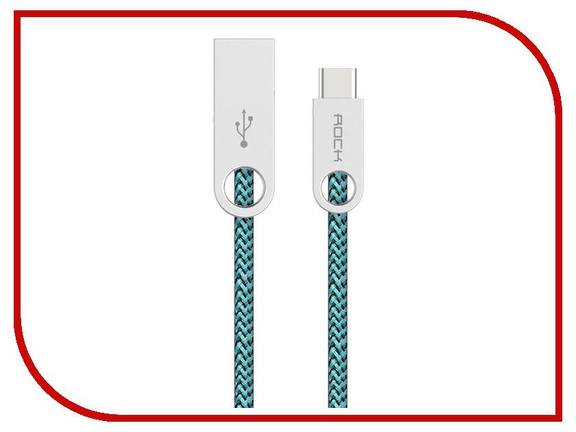 Аксессуар ROCK USB to Type-C Cobblestone Round RCB0440 Malachite Green<br>