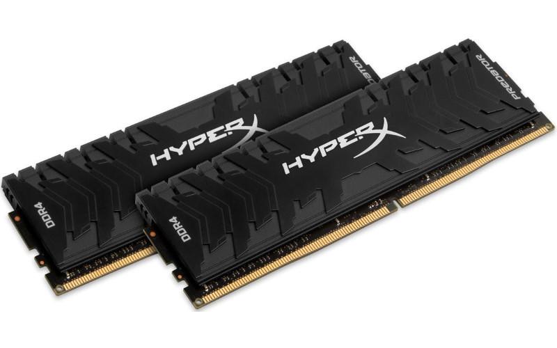 Модуль памяти Kingston Predator DDR4 DIMM 3333MHz PC4-26600 CL16 - 16Gb KIT (2x8Gb) HX433C16PB3K2/16 модуль памяти kingston predator pc4 25600 dimm ddr4 3200mhz cl16 16gb 4x4gb hx432c16pb3k4 16