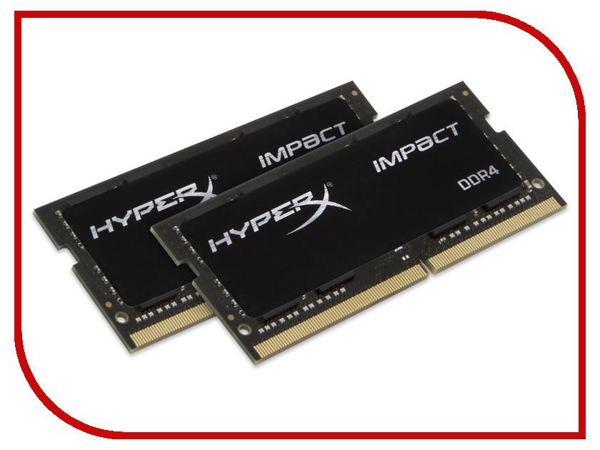 Модуль памяти Kingston HyperX Impact DDR4 SO-DIMM 2133MHz PC4-17000 CL13 - 32Gb KIT (2x16Gb) HX421S13IBK2/32