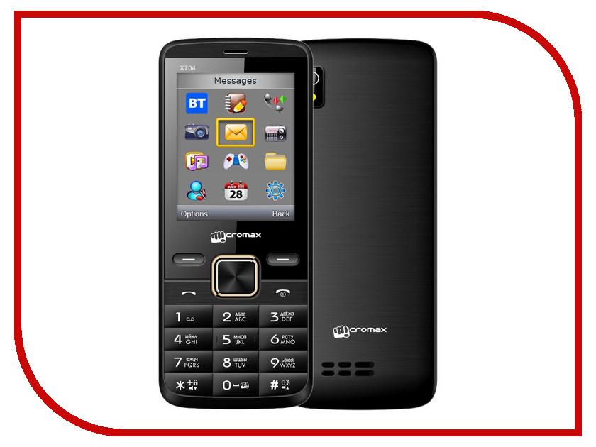 Сотовый телефон Micromax X704 Black сотовый телефон micromax bolt q341 yellow