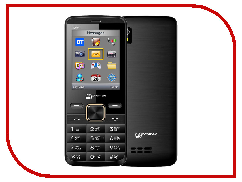 Сотовый телефон Micromax X704 Black сотовый телефон micromax q326 champagne