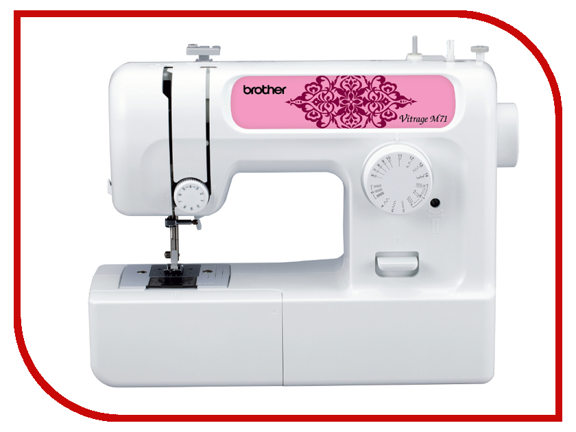 Швейная машинка Brother Vitrage M71 White швейная машинка brother sl10