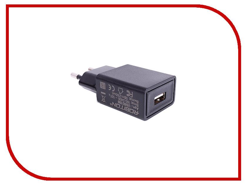 Зарядное устройство Robiton USB2100 2100mA USB BL1 Black розетка robiton el 01