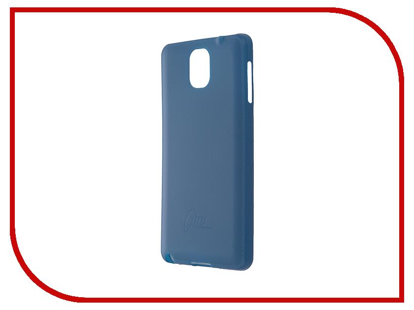 Аксессуар Чехол-накладка Samsung Galaxy Note 3 Itskins Zero.3 + пленка Blue 341210610<br>