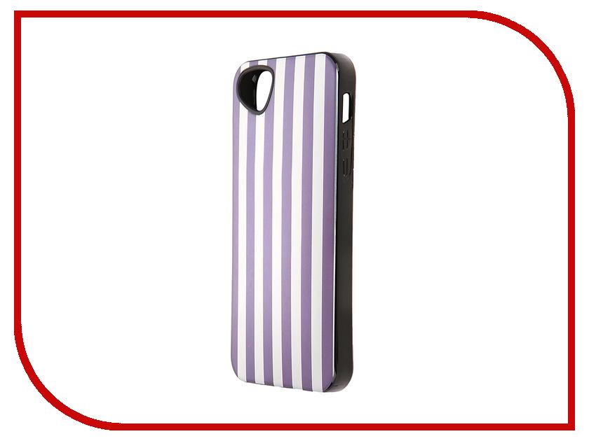 Аксессуар Чехол-накладка Itskins для iPhone 5/5S Killer Chic + пленка Purple Stripe 601710523<br>