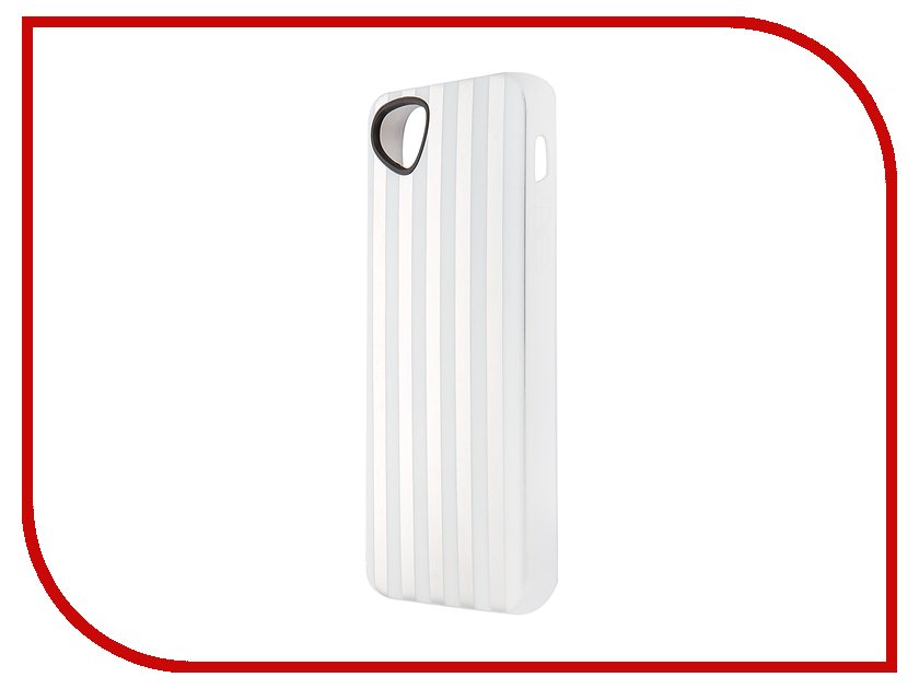 Аксессуар Чехол-накладка Itskins для iPhone 5/5S Killer Chic + пленка White Stripes 996610524<br>