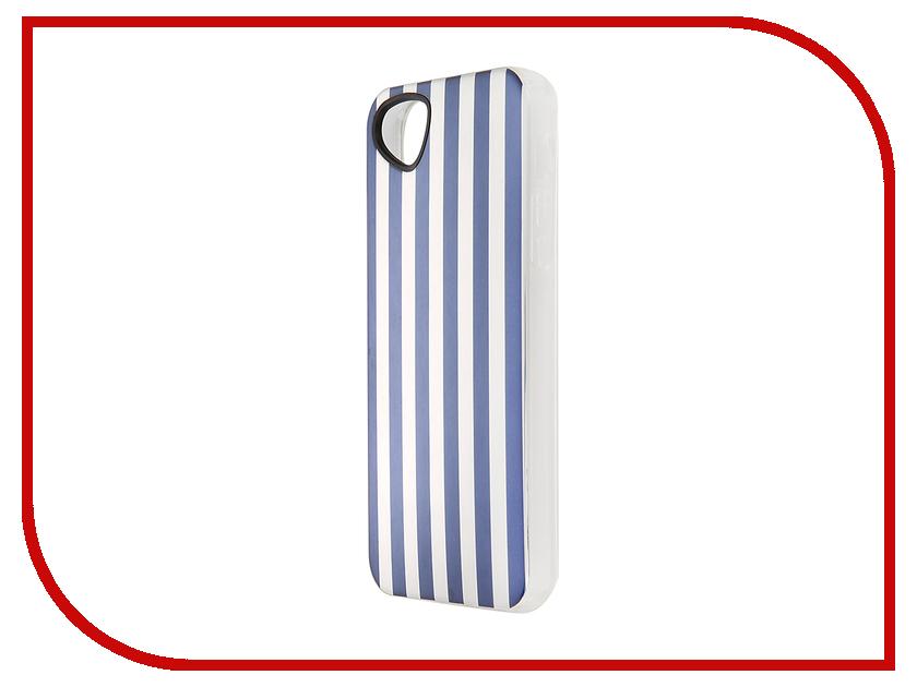 Аксессуар Чехол-накладка Itskins для iPhone 5/5S Killer Chic + пленка White-Blue 709110525<br>