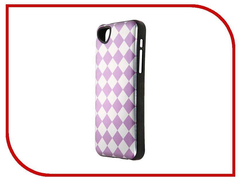 Аксессуар Чехол-накладка Itskins для iPhone 5C Killer Chic + пленка Purple Lattice 564510530<br>