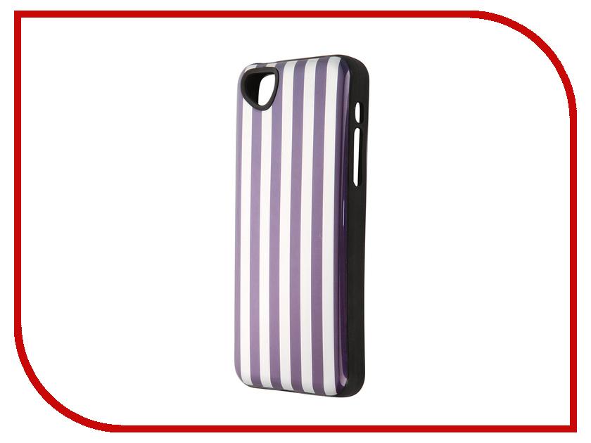 Аксессуар Чехол-накладка Itskins для iPhone 5C Killer Chic + пленка Purple Stripe 523410531<br>