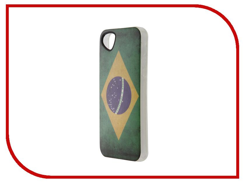 Аксессуар Чехол-накладка Itskins для iPhone 5/5s New Phantom + пленка Brazil 342110539<br>