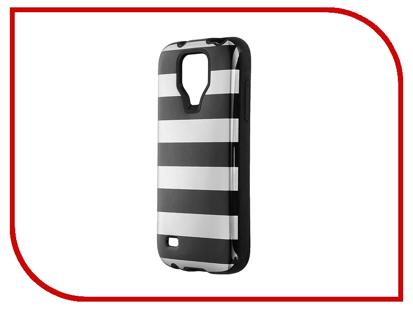 Аксессуар Чехол-накладка Samsung Galaxy S4 mini Itskins Killer Chic + пленка Black Stripes 273310533<br>