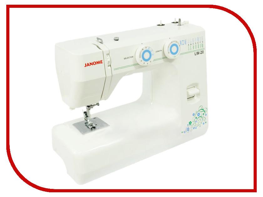 Швейная машинка Janome LW-20 White schwarzkopf лак для волос сильной фиксации schwarzkopf osis freeze 1918571 500 мл