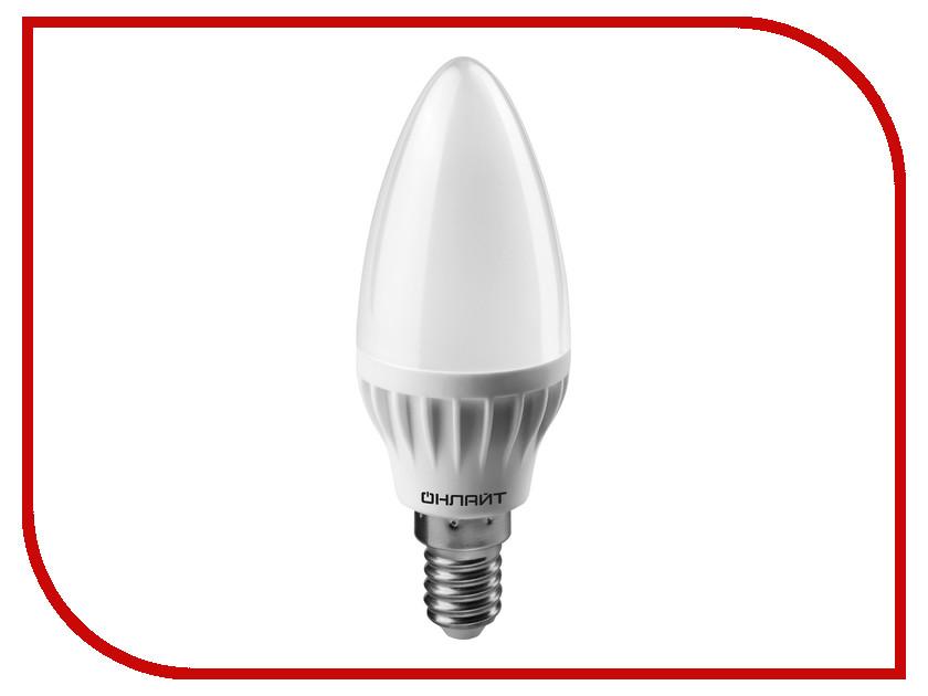 Лампочка ОнЛайт 71 633 OLL-C37-8-230-4K-E14-FR<br>