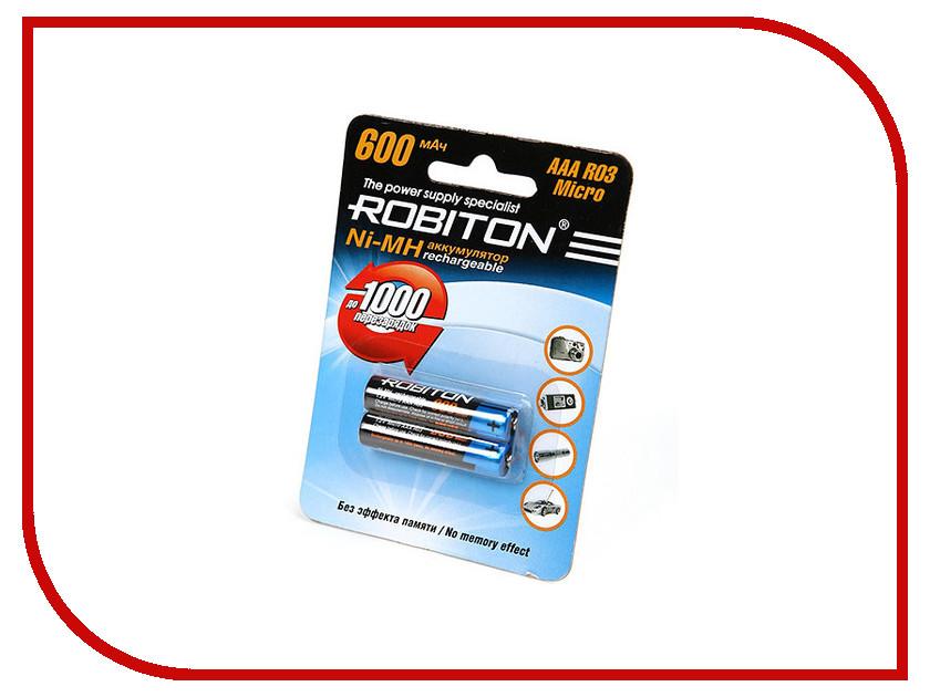 Аккумулятор AAA - Robiton 600 mAh 600MHAAA-2 prof SR2 13793 (2 штуки) аккумулятор c robiton r14 4500 mah 4500mhc 2 bl2 nimh 2 штуки