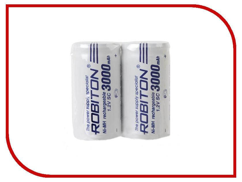 Аккумулятор SC - Robiton 3000 mAh 3000MHSC-2 SR2 13794 (2 штуки)<br>