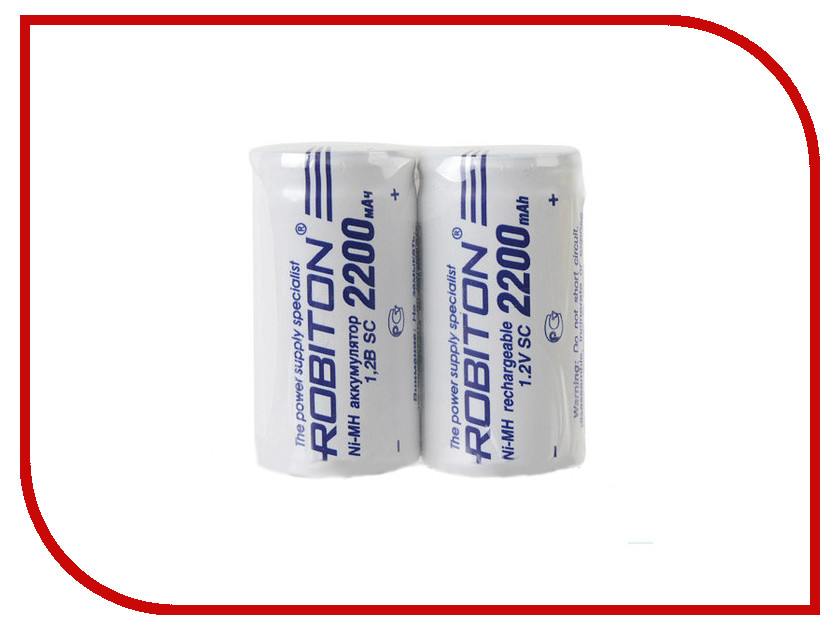 Аккумулятор SC - Robiton 2200 mAh 2200MHSC-2 SR2 13795 (2 штуки)<br>