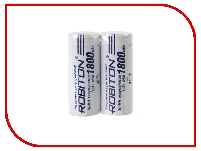 Аккумулятор 4/5A - Robiton 1800 mAh 1800MH4/5A-2 SR2 13797 (2 штуки)<br>