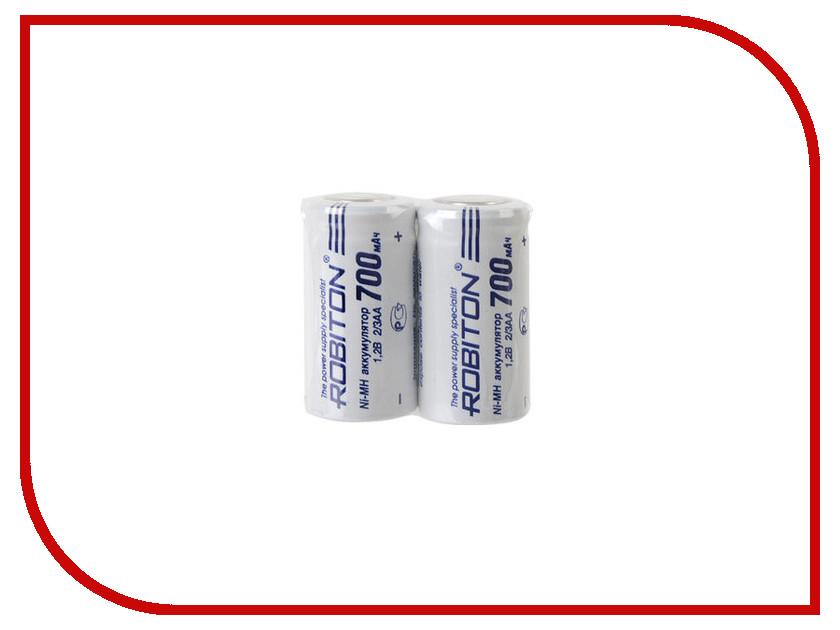 Аккумулятор 2/3AA - Robiton 700 mAh 700MH2/3AA-2 SR2 13799 (2 штуки)