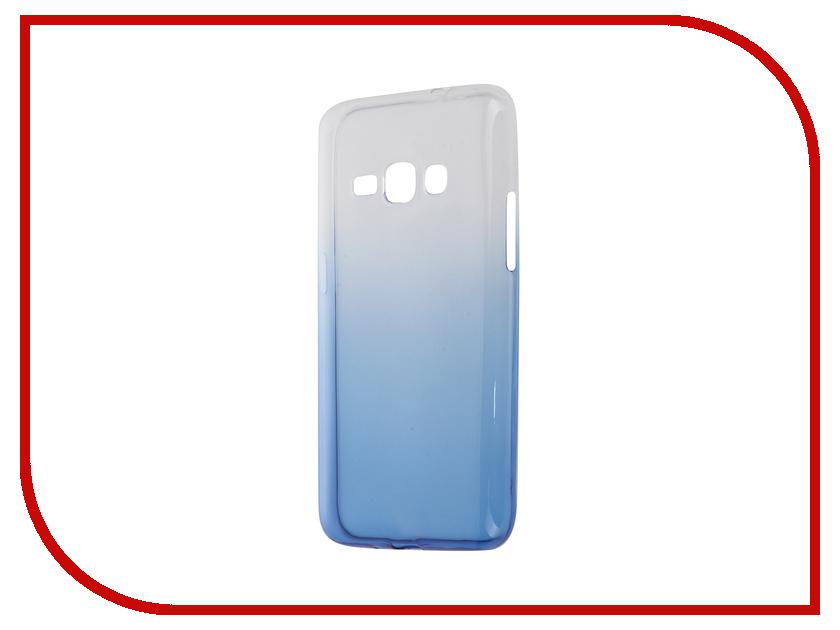 Аксессуар Чехол-накладка Samsung Galaxy J1 2016 J120 IQ Format Blue<br>