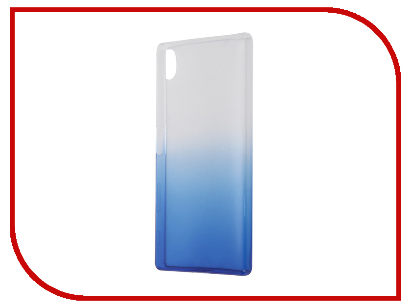 Аксессуар Чехол Sony Xperia Z5 IQ Format Silicone Blue<br>